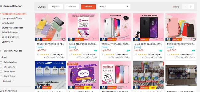 mencari supplier di shopee