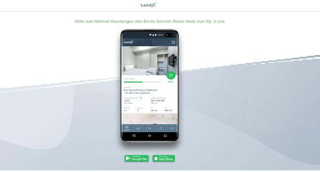 LandX, Aplikasi Investasi Properti Online